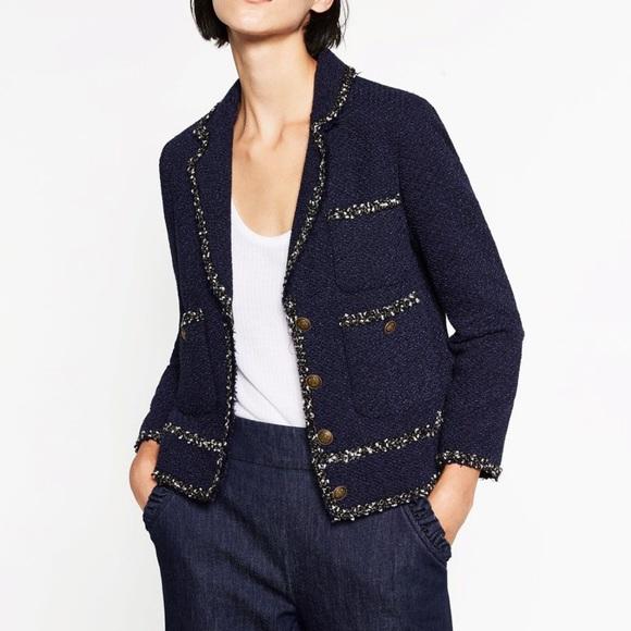 933f087b Zara Jackets & Coats | Brand New Tweed Blazer | Poshmark